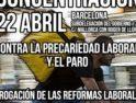 Contra la precariedad y el paro ¡Derogación de las reformas laborales, YA!