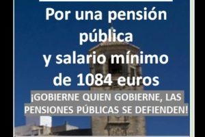 Concentración por las pensiones 12 de abril 2021 en Úbeda