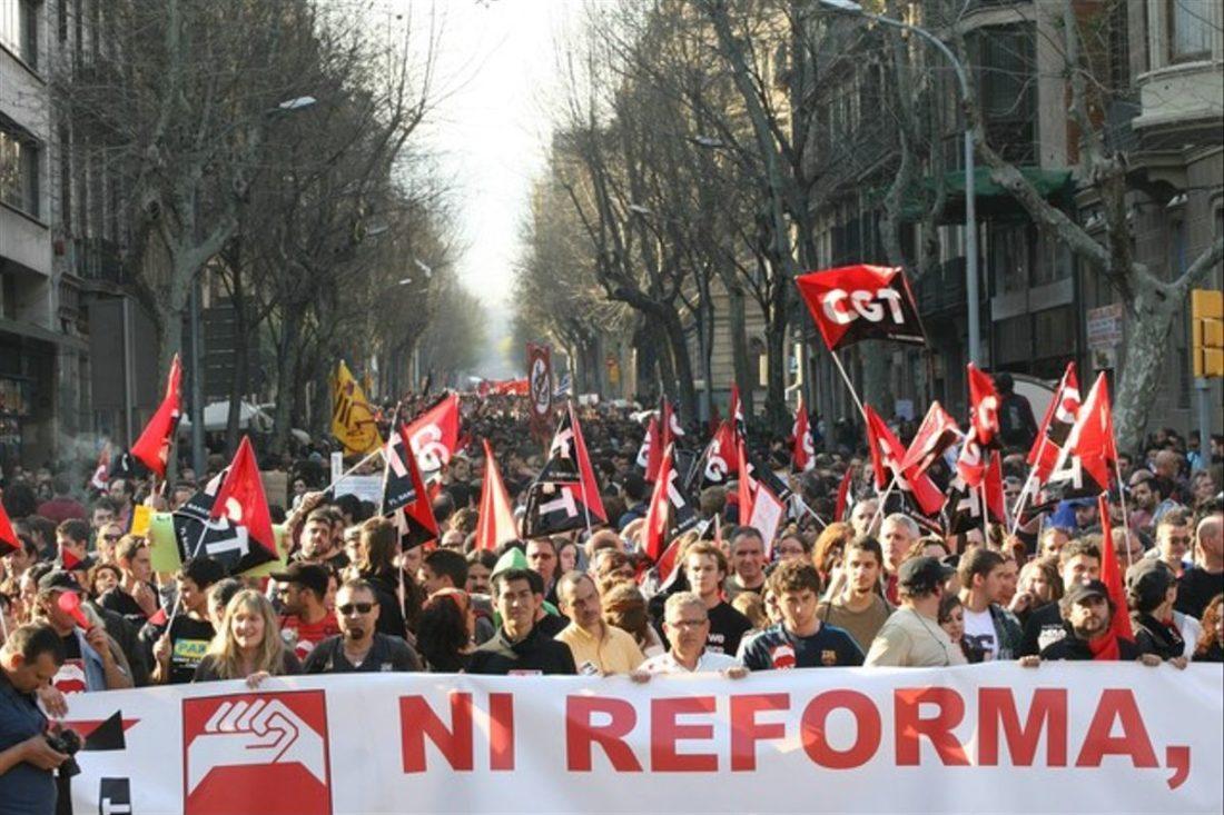 CGT se concentra contra la no modificación de la Reforma Laboral