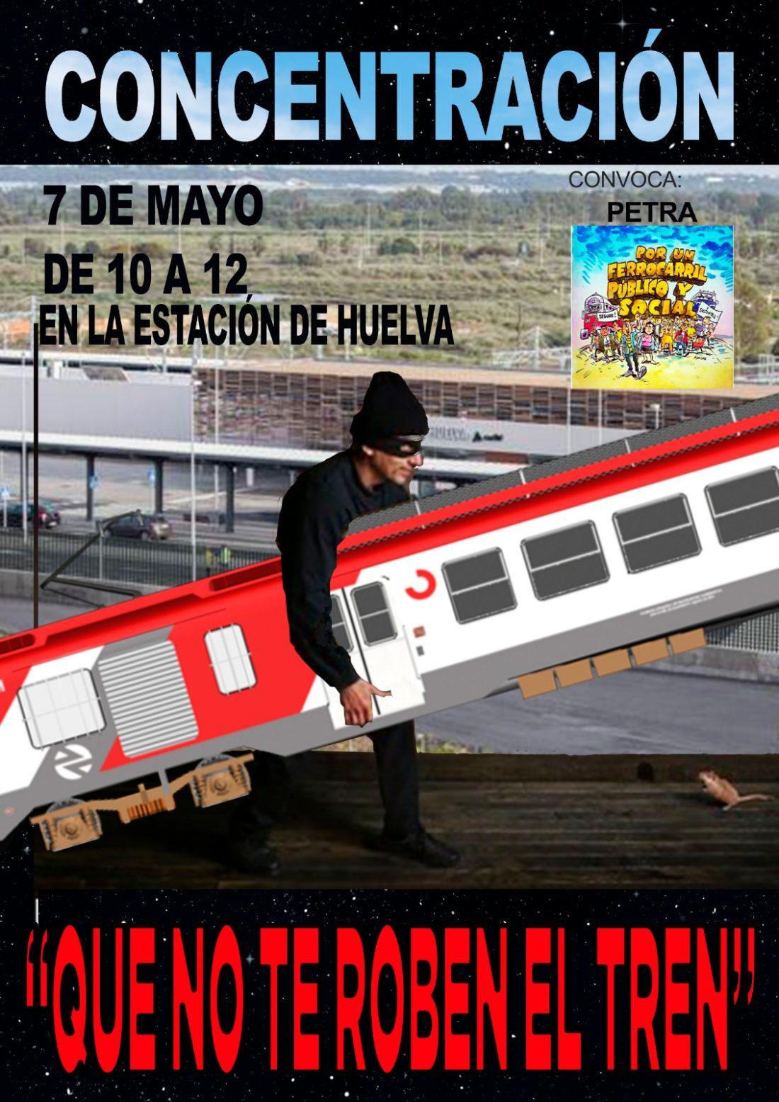 PTRA anuncia nueva acción de protesta por la situación ferroviaria en Andalucía el 7 de mayo de 10 a 12 en la estación de Huelva