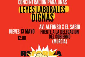 CGT convoca concentración por la derogación de las reformas laborales