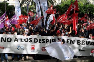 BBVA Castilla y León. Ante los despidos masivos en BBVA: Movilización para defender nuestros puestos de trabajo