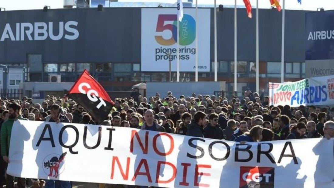 Mañana viernes 21 de mayo comienza huelga contra el cierre de Airbus Puerto Real