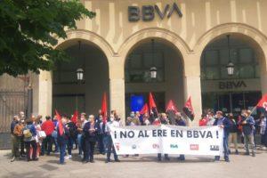 Nueva jornada de huelga en BBVA ante los despidos programados en el ERE