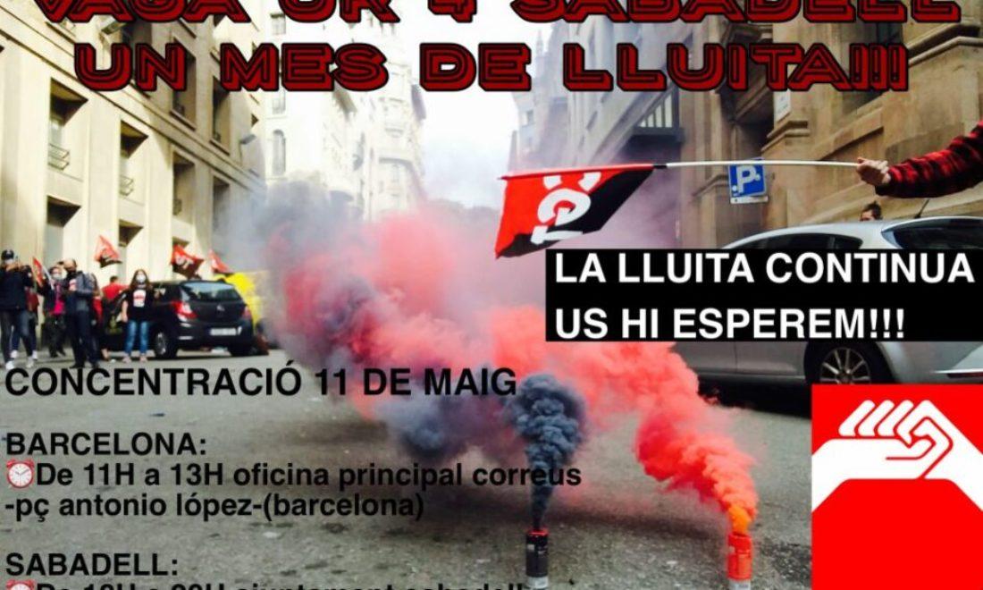 35 días de huelha indefinida en Correos en la Unidad de Reparto nº 4 de Sabadell