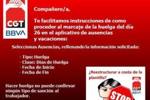 Concentraciones con motivo de la huelga convocada para el 26 de mayo en defensa del empleo y contra el ERE propuesto por la dirección de BBVA