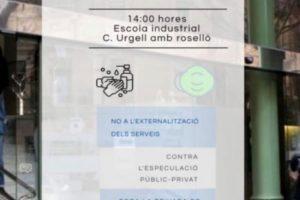 Concentración en Barcelona contra la externalización del servicio de esterilización