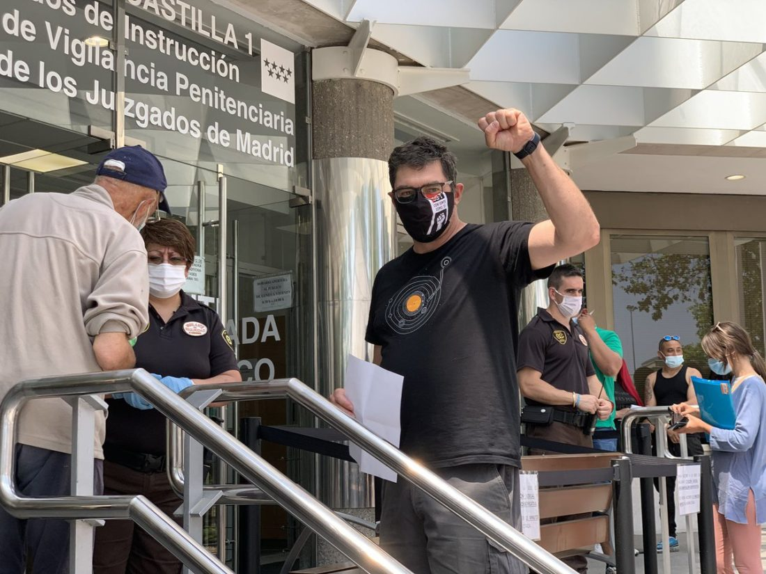 CGT manifiesta que el archivo de la causa contra el compañero detenido en la manifestación por la Sanidad Pública en febrero demuestra la arbitrariedad de las Fuerzas y Cuerpos de Seguridad del Estado en sus acciones