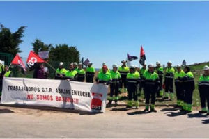 La Diputación de Burgos impide el derecho de huelga en Centro de Tratamiento de Residuos de Abajas