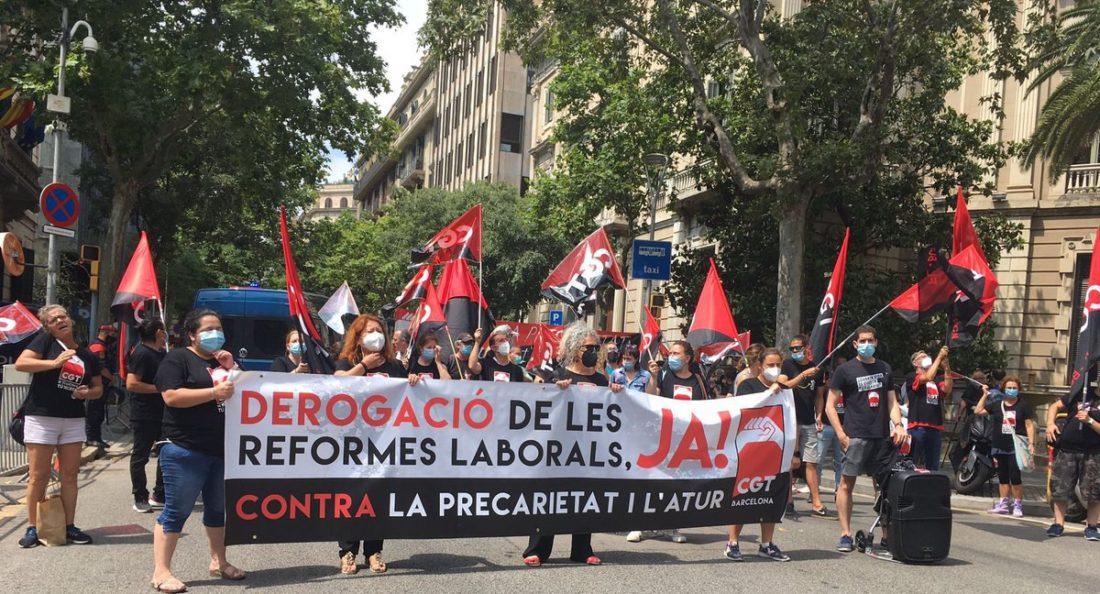 Por la justicia social. Las personas antes que el capital. ¡Derogación de las reformas laborales, YA!