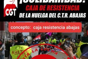 Huelga y caja de resistencia CTR Abajas (Burgos)