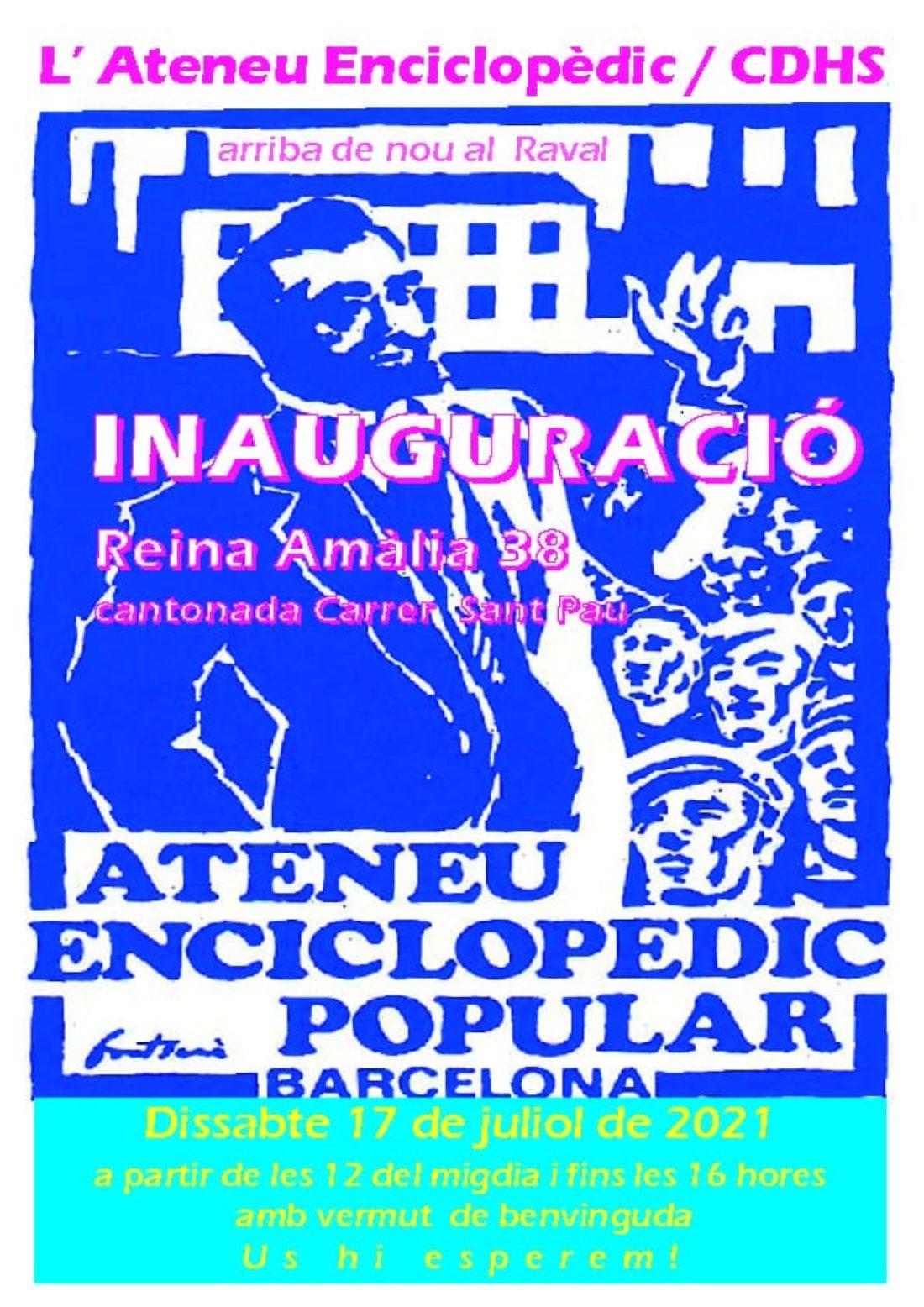 Inauguración del Ateneu Enciclopèdic
