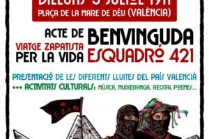 Una delegación zapatista en València