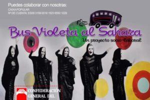 CGT pone en marcha el Bus violeta al Sahara