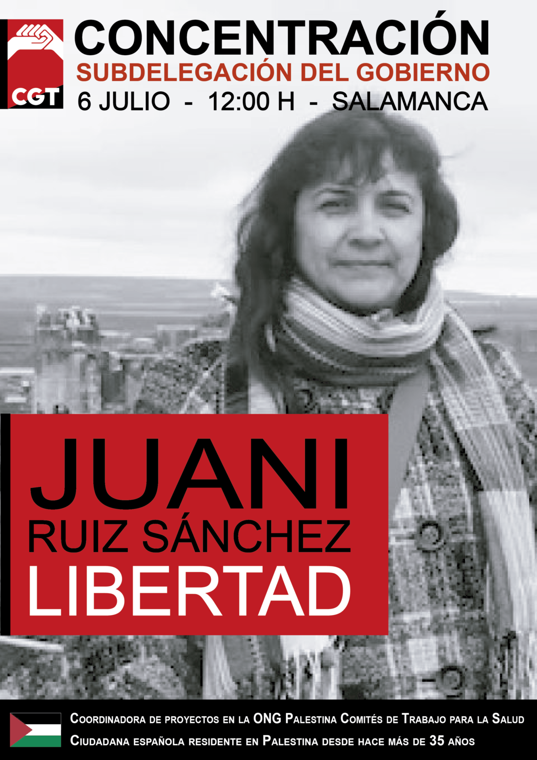 6-J Concentración: Libertad para Juana Ruiz Sánchez