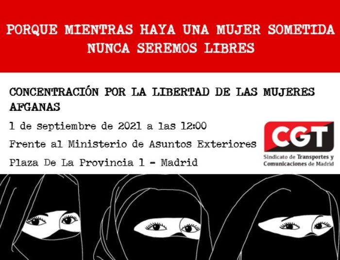 Convocatoria concentración y marcha de apoyo a las mujeres afganas - Imagen-1