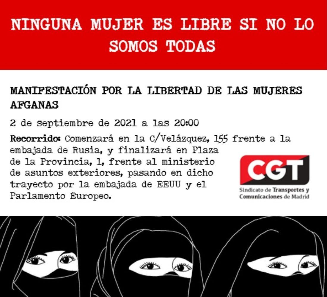 Convocatoria concentración y marcha de apoyo a las mujeres afganas