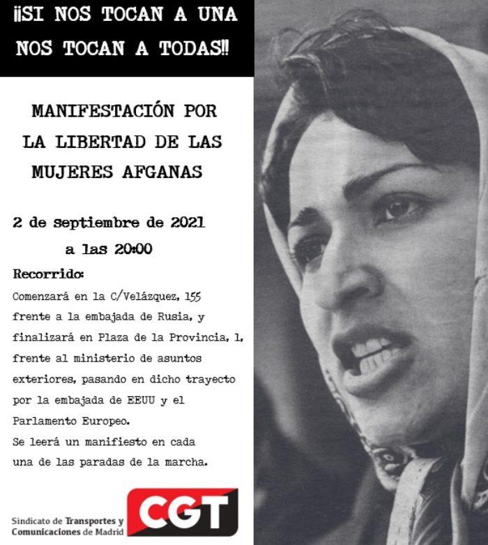 Convocatoria concentración y marcha de apoyo a las mujeres afganas - Imagen-4