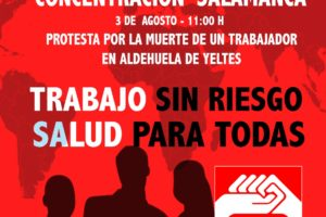 3-A: Concentración contra los accidentes laborales en Salamanca