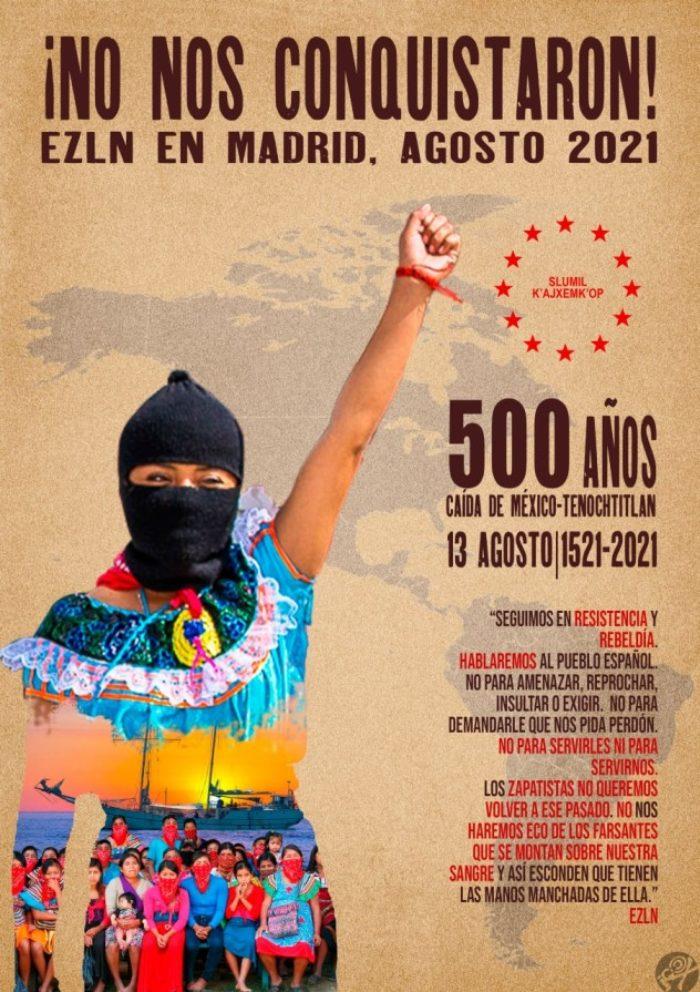 """CGT se suma al llamamiento del EZLN y el CNI a la acción dislocada, """"a 500 años del inicio de la resistencia"""" de los pueblos indígenas contra la colonización (México) celebrando un concierto el día 12 de agosto - Imagen-1"""