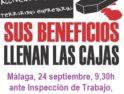 EEl viernes 24 de septiembre, jornada completa de reivindicaciones en Málaga