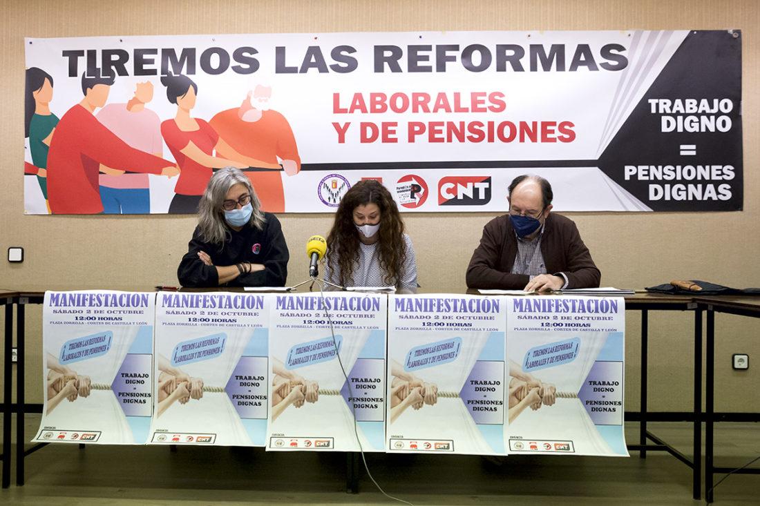 Valladolid, Rueda de prensa «Por unas Pensiones Dignas Siempre»