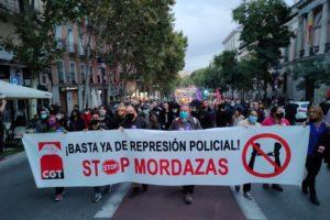 Valoración Manifestación 16 de octubre: ¡Abajo las leyes represivas! ¡Amnistía Total!