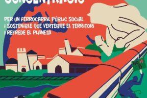 Concentración por un ferrocarril público, social y sostenible… en València